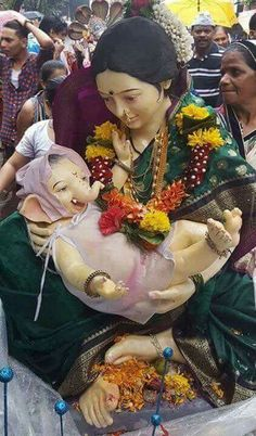 Ganapati with Mother Parvati Ganesh Utsav 2016