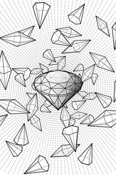 A Collection of line drawings inspired by geometric layouts and occulted immagery.