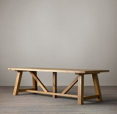 Reclaimed Russian Oak Trestle Dining Tables | All Rectangular Tables | Restoration Hardware