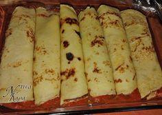 Κρέπες γεμιστές με κιμά και μπασαμέλ, χωρίς γλουτένη συνταγή από Dinakara - Cookpad Banana, Cheese, Fruit, Food, Meal, The Fruit, Eten, Meals, Bananas