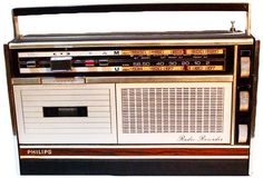 The first boombox was developed by the inventor of the audio compact cassette Philips of the Netherlands. Their first 'Radiorecorder' was released in 1966. The Philips innovation was the first time that radio broadcasts could be recorded onto cassette tapes without the cables or microphones that previous stand-alone cassette tape recorders required. by _skratch http://ift.tt/1HNGVsC