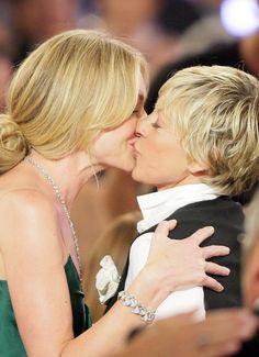 Portia de Rossi and Ellen DeGeneres. this photo makes my heart happy.  <3