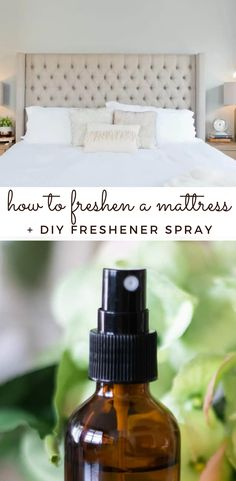 Learn how to freshen a mattress and how to make a DIY mattress freshener spray. These tips will keep your mattress smelling fresh and clean with a natural solution. Freshen Mattress, Diy Mattress, Natural Solutions, Cozy House, Natural Skin Care, Essential Oils, Refresh Mattress, Cosy House, Essential Oil Uses