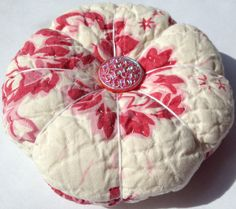 Lovely Pincushion Made From Repurposed Quilt by sentimentalbaby