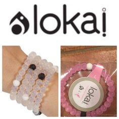 """LARGE PINK Lokai Bracelet Each lokai is infused with elements from the highest and lowest points on Earth. The bracelet's white bead carries water from Mt. Everest, and its black bead contains mud from the Dead Sea. These extreme elements are a reminder to the wearer to live a balanced life – staying humble during life's peaks and hopeful during its lows.  This is for a size Large, which is 7"""". Lokai Jewelry Bracelets"""