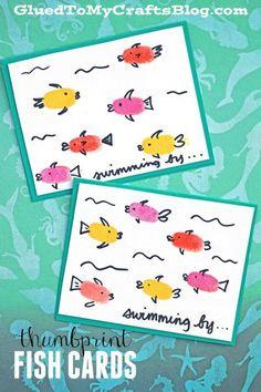 Thumbprint Fish Cards - Kid Craft Idea