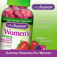 vitafusion Women's Multivitamin, 220 Gummies - prenatal vitamins One A Day Vitamins, Vitamins For Energy, Vitamins For Women, Fruit Juice Recipes, Fruit Drinks, Healthy Recipes, Cooking Recipes, Supplements For Women, Weight Loss Supplements