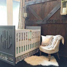 Project Nursery - Rustic Nursery with DIY Monogram Crib