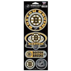 Boston Bruins Stickers Prismatic