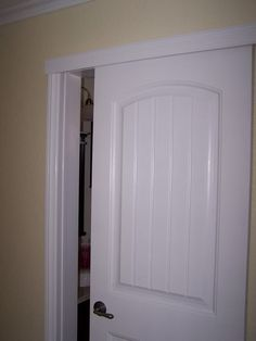 Wall-mount sliding door to create more space in bathroom or small room