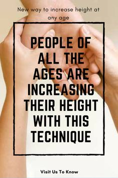 You can increase your height at any age with Pituitary Gland Meditation. Many people have benefitted from this method. There are no age restrictions for it. Increase Height Exercise, Tips To Increase Height, How To Get Tall, How To Grow Taller, Gym Workout For Beginners, Gym Workout Tips, Health And Fitness Tips, Health And Beauty Tips, Grow Taller Exercises