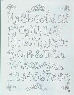 ^ This is a nice and swirly little alphabet to try. Hand Lettering Alphabet, Doodle Lettering, Creative Lettering, Lettering Styles, Calligraphy Letters, Brush Lettering, Doodle Alphabet, Fun Fonts Alphabet, Capital Alphabet