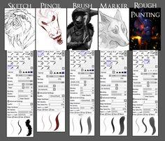 Brush settings for Paint Tool SAI by Grypwolf.deviantart.com on @deviantART