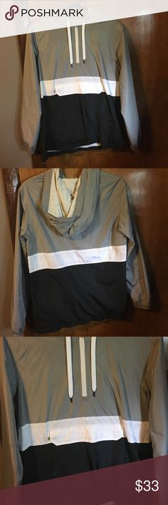 Windbreaker BUNDLED with a Classic Lokia Bracelet Bought both items in a zumies in Chicago the windbreaker has been worn once and has no tears or stains it's like new 🙂OFFERS ACCEPTED Zine Clothing Sweaters