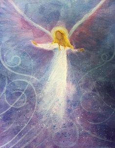 Angel Artwork, Angel Paintings, Angel 11, Entertaining Angels, Angel Clouds, Spiritual Paintings, Angel Drawing, Angel Pictures, Zen Art