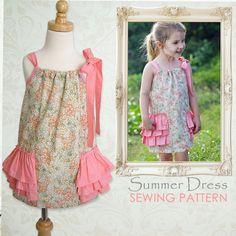 Girls dress pattern PDF pillowcase dress by MyChildhoodTreasures