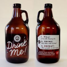 Drink Me! - new Growler design for Camden Town Brewery. One Glass Of Wine, Effects Of Alcohol, Homebrew Recipes, Chips And Salsa, Beer Packaging, Pina Colada, Hot Sauce Bottles, Restaurant Bar, Brewery
