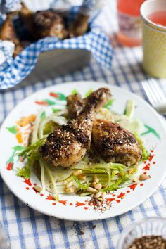 Za'atar Chicken with Shaved Fennel Salad...   DonalSkehan.com