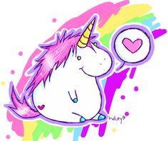 A chubby unicorn