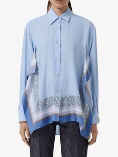 Great news, Burberry print-trim shirt is available at Farfetch Hong Kong! Burberry Print, Fashion Brand, Fashion Design, Boyfriend Shirt, Mellow Yellow, Refashion, Blouses For Women, Korean Fashion, Women Wear