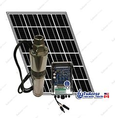 1x 195W Solar Panel Tuhorse 83 feet Cable Complete Kit 3 210W Solar Submersible Deep Well Pump