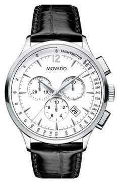 #Movado 'Circa' Round Chronograph Watch, 40mm available at #Nordstrom