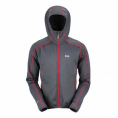 RAB Power Stretch Hoodie Mens Fleece, Fleece Hoodie, Stretch Fabric,  Pockets, Helmet 045ed803a0
