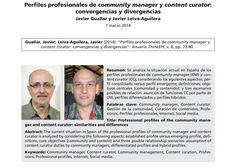 Perfiles profesionales de CM y CC por Javier Guallar y Javier Leiva
