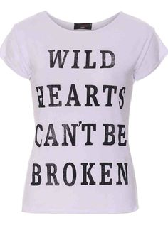 Michelle Keegan White Wild Hearts Can't Be Broken T-shirt- Women's Clothing- Love Online Fashion