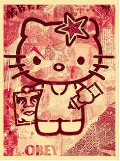 Hello Kitty Pink :: Shepard Fairey (2010)