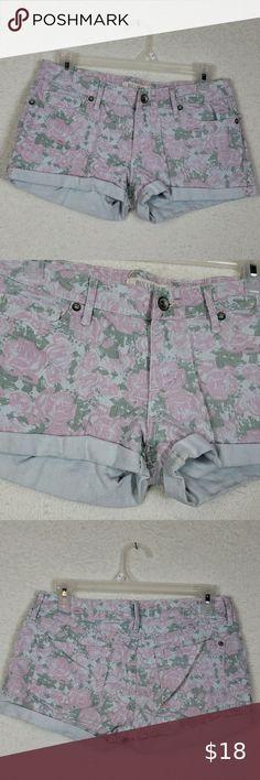 Indigo Rein Women/'s Mushroom Stretch Casual Shorts SZ 7 Jr