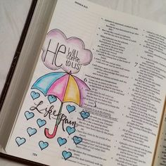 Hosea 6:3 He will come to us like rain [credit to TM Bender, FB] Bible Art Journaling
