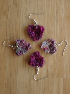 Fiber Flux...Adventures in Stitching: Stitchy Tutorial: Tiny Heart Earrings