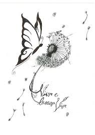 dandelion butterfly tattoo designs - Google Search