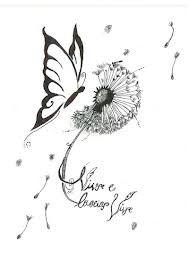 dandelion butterfly tattoo designs - Google Search