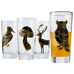 Patch Animal Print Tumblers - set of 4.