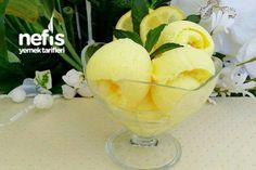 Gerçek Limonlu Dondurma Tarifi Gelato, Ice Cream, Fruit, Tableware, Desserts, Recipes, Food, Donut, No Churn Ice Cream