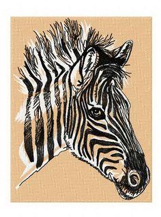 Zebra 4 machine embroidery design. Machine embroidery design. www.embroideres.com
