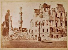 Alexandria Bombartment by the British in Sheikh Ibrahim Mosque and Nubar Pasha's House After the Bombardment of Downtown Alexandria. Egyptian Beauty, Ruined City, Alexandria Egypt, Egypt Art, Historical Pictures, Cairo, Taj Mahal, British, Culture