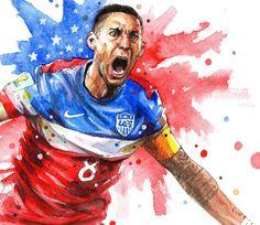 Clint Dempsey United States football team FIFA World by NazarArt