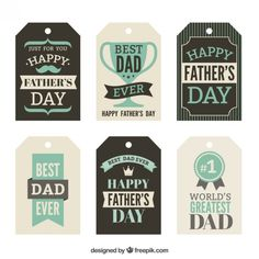 Fathers day tags Premium Vector