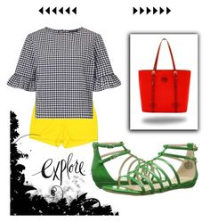 """""""Untitled #646"""" by desiree-lucas ❤ liked on Polyvore featuring J.Crew, Miss Selfridge, Nine West and Dooney & Bourke"""
