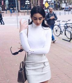 Find images and videos about girl, fashion and style on We Heart It - the app to get lost in what you love. Fashion 101, Autumn Fashion, Fashion Outfits, Womens Fashion, Fashion Beauty, Street Fashion, White Outfits, Classy Outfits, Stylish Outfits