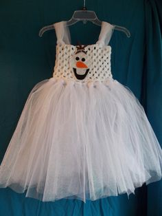 Olaf inspired tutu dress with adjustable straps