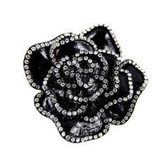 #ciro #brooch #crystal #burlingtonarcade  http://www.cirojewellery.com/collections/brooch/products/black-flower-crystal-brooch