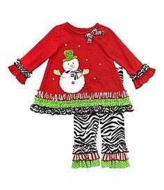 Rare Editions Infant Snowman-Applique 2-Piece Pants Set | Dillards.com