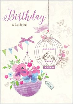 Card Ranges » 7576 » Birdcage and Flowers - Abacus Cards - Greetings Cards, Gift Wrap & Stationery