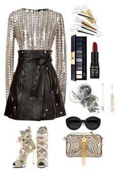 """""""Ootd15"""" by snowwbaby ❤ liked on Polyvore featuring Wes Gordon, Alexander McQueen, John Lewis, STELLA McCARTNEY, MAKE UP FOR EVER, Crate and Barrel, Giuseppe Zanotti and Carla Zampatti"""