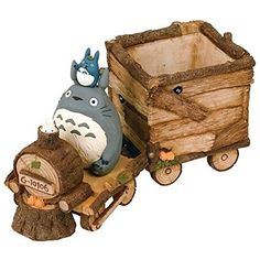 Studio Ghibli My Neighbor Totoro Flower Pot Cover Playing Flower Locomotive Totoro
