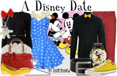 Exclusive DisneyBound Look: Date Night at Disneyland | Disney Style - Minnie & Mickey